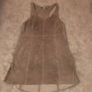 FREE PEOPLE LEATHER DRESS WORN ONCE